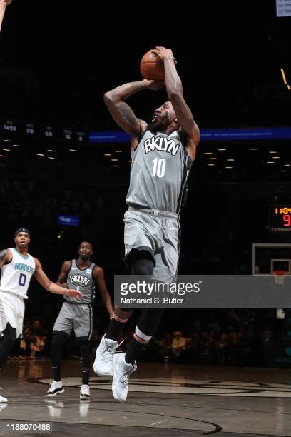 Iman Shumpert of the Brooklyn Nets shoots the ball against the Charlotte Hornets on December 11 2019 at Barclays Center in Brooklyn New York NOTE TO...