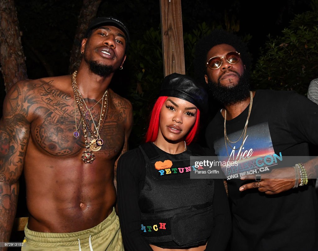 Iman Shumpert, Teyana Taylor and Big K.R.I.T. attend ATL Live On The Park at Park Tavern on June 12, 2018 in Atlanta, Georgia.