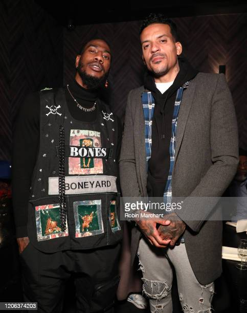 Iman Shumpert wearing Excalibur 42 automatic Skeleton and Matt Barnes attend The Compound and Luxury Watchmaker Roger Dubuis Hosts NBA AllStar Dinner...