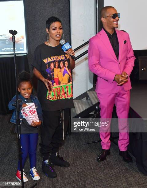 Iman Tayla Shumpert Jr Teyana Taylor and TI attend You Be There Screening at The Gathering Spot on August 11 2019 in Atlanta Georgia