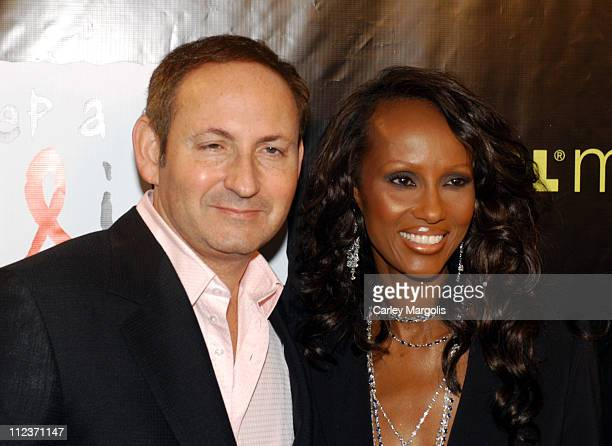 Iman with John Demsey president MAC Cosmetics and chairman of the MAC AIDS Fund