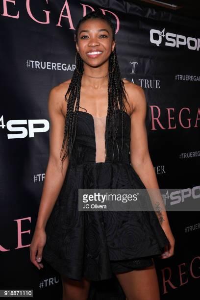 Imani Boyette attends Regard Magazine 2018 NBA AllStar PreParty hosted by Derek Fisher at Soho House on February 15 2018 in West Hollywood California