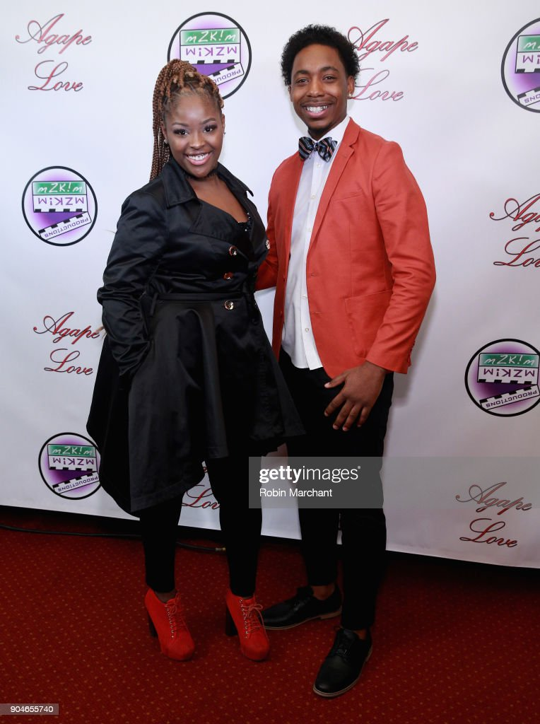 Imani Brown and Erick Perkins attend Agape Love Red Carpet on January 13, 2018 in Milwaukee, Wisconsin.