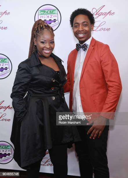 Imani Brown and Erick Perkins attend Agape Love Red Carpet on January 13 2018 in Milwaukee Wisconsin