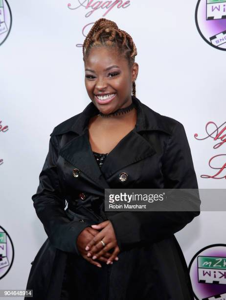 Imani Brown attends Agape Love Red Carpet on January 13 2018 in Milwaukee Wisconsin