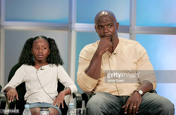 Imani Hakim and Terry Crews during UPN 2005 TCA Day in Los Angeles California United States