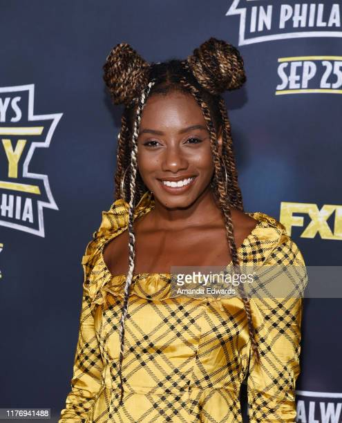 Imani Hakim arrives at the premiere of FX's It's Always Sunny In Philadelphia Season 14 at the TCL Chinese 6 Theatres on September 24 2019 in...