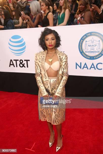 Imani Hakim attends the 49th NAACP Image Awards at Pasadena Civic Auditorium on January 15 2018 in Pasadena California