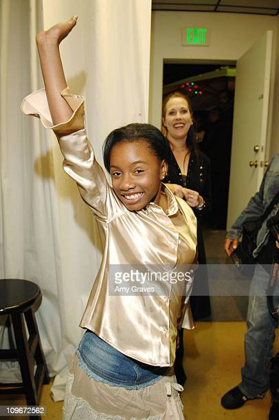 Imani Hakim during Jesse Raudales and Terrence Howard Peace for the Children Art Show at PounderKone Artspace in Glendale California United States