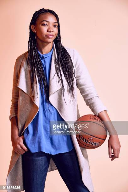 Imani McGee Stafford of the Atlanta Dream poses for portraits during the NBAE Circuit as part of 2018 NBA AllStar Weekend on February 15 2018 at the...