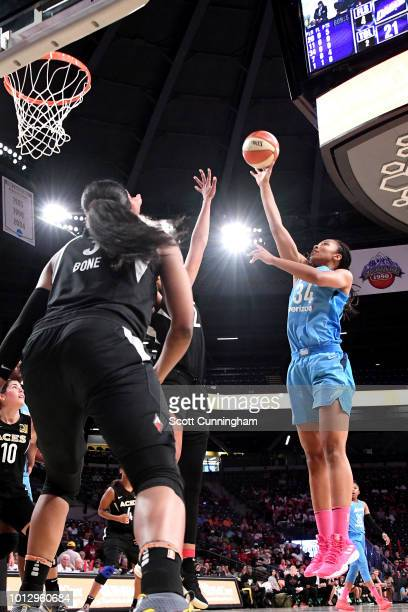 Imani McGeeStafford of the Atlanta Dream shoots the ball during the game against the Las Vegas Aces on August 07 2018 at McCamish Pavilion in Atlanta...