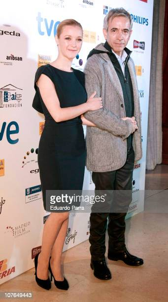 Imanol Arias and Maria Esteve attend the Jose Maria Forque awards photocall at Royal Theatre on December 17 2010 in Madrid Spain
