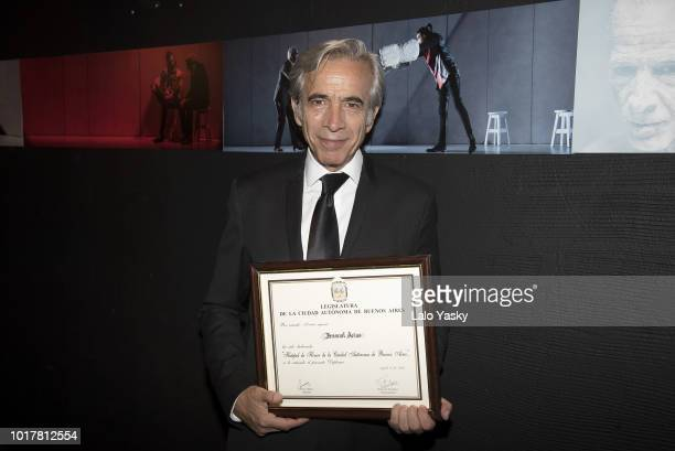 Imanol Arias attends 'Imanol Arias Named Guest Of Honour In Buenos Aires' ceremony at the Maipo Theater on August 16 2018 in Buenos Aires Argentina