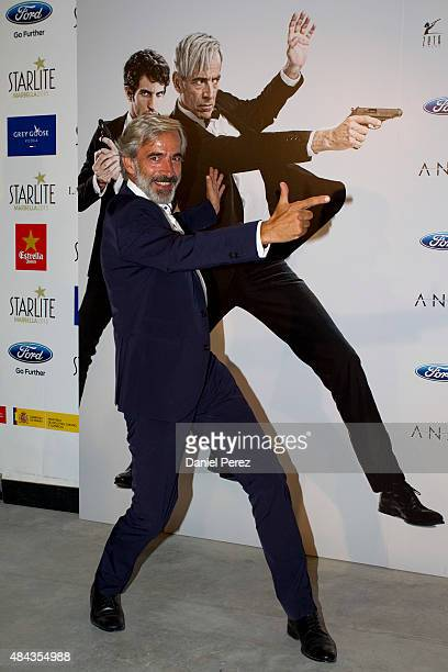 Imanol Arias attends the Spanish premiere of the movie 'Anacleto Agente Secreto' on August 17 2015 in Marbella Spain