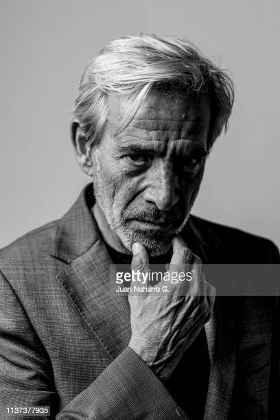 Imanol Arias poses for a portrait session at Teatro Cervantes during 22nd Spanish Film Festival of Malaga on March 20 2019 in Malaga Spain