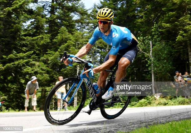 Imanol Erviti of Spain and Movistar Team ABUS Yellow Helmet Best Team / during the 105th Tour de France 2018, Stage 19 a 200,5km stage from Lourdes...