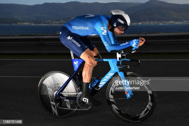 Imanol Erviti of Spain and Movistar Team / during the 75th Tour of Spain 2020, Stage 13 a 33,7km Individual Time Trial stage from Muros to Mirador de...