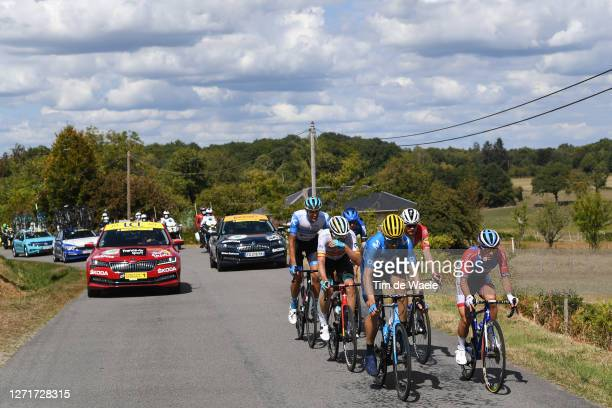 Imanol Erviti of Spain and Movistar Team / Mathieu Burgaudeau of France and Team Total Direct Energie / Luis Leon Sanchez Gil of Spain and Astana Pro...