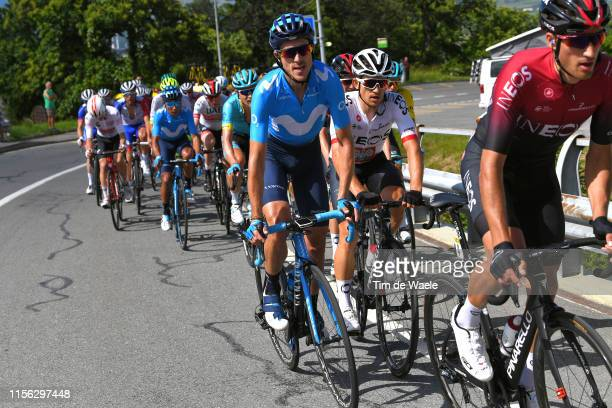 Imanol Erviti Ollo of Spain and Movistar Team / Michal Kwiatkowski of Poland and Team INEOS / during the 71st Criterium du Dauphine 2019, Stage 8 a...