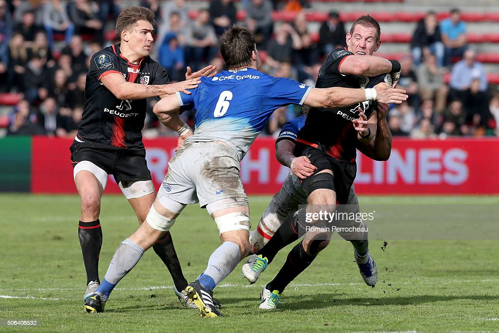 Toulouse v Saracens - European Rugby Champions Cup : News Photo
