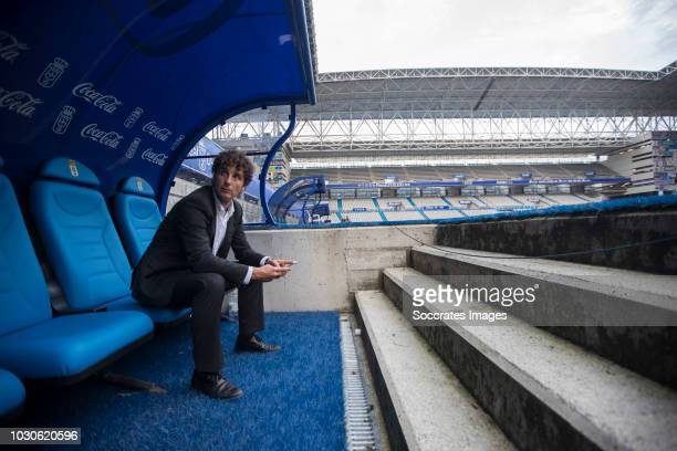 Imanol Idiakez of Real Zaragoza during the match between Real Oviedo v Real Zaragoza at the Estadio Carlos Tartiere on September 8 2018 in Oviedo...