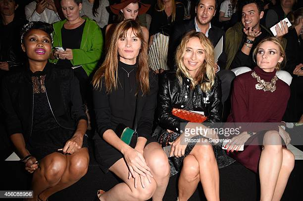 Imany Marina Hands Alexandra Golovanoff and Olivia Palermo attend the Nina Ricci show as part of the Paris Fashion Week Womenswear Spring/Summer 2015...