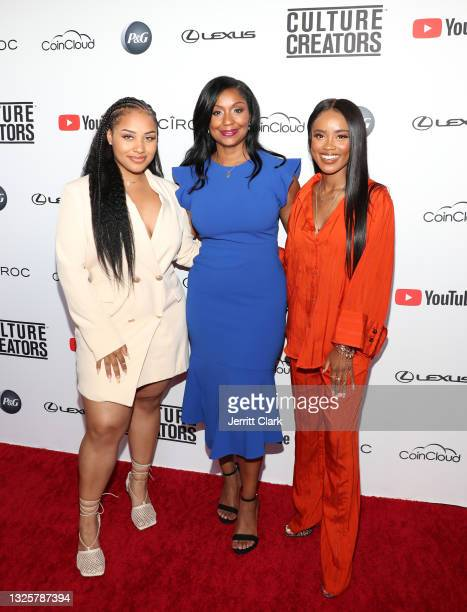 Imaris Reyes, Joi Brown and Andrielle Beamon attend the Culture Creators Innovators & Leaders Awards at The Beverly Hilton on June 26, 2021 in...