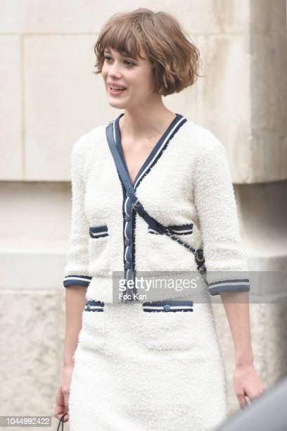 IMathilde Warnier attends the Chanel show as part of the Paris Fashion Week Womenswear Spring/Summer 2019 on October 2, 2018 in Paris, France.