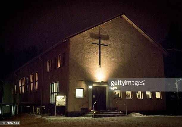 Imatrankoski Church where the memorial service for the three killed women was held is pictured in Imatra on December 04 2016 A gunman shot dead three...