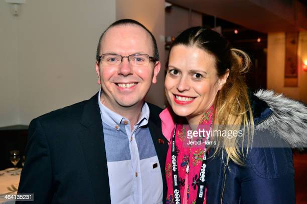 IMDb founder and CEO Col Needham and screenwriter Marianna Palka attend the IMDb Sundance dinner party at the Mustang on January 20 2014 in Park City...