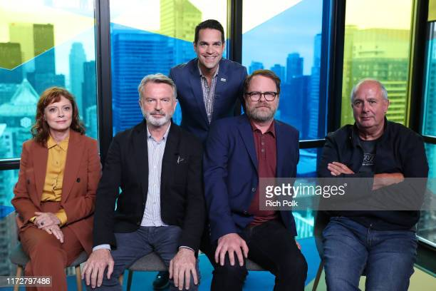 IMDb host Dave Karger actors Susan Sarandon Sam Neill Rainn Wilson and director Roger Michell of 'Blackbird' attend The IMDb Studio Presented By...