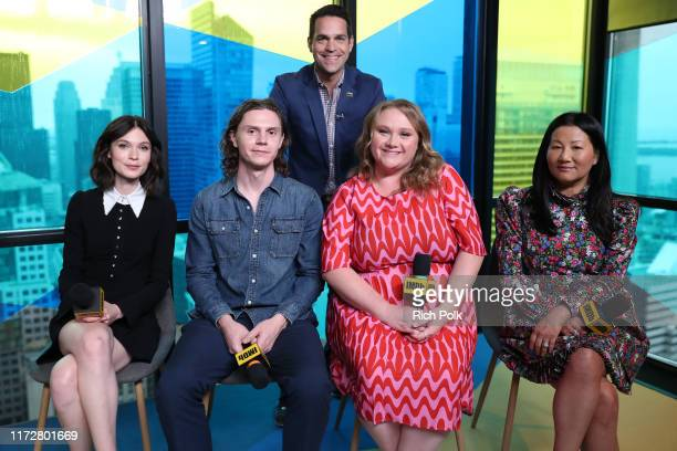 IMDb host Dave Karger actors Tilda CobhamHervey Evan Peters Danielle MacDonald and director Unjoo Moon attend The IMDb Studio Presented By Intuit...