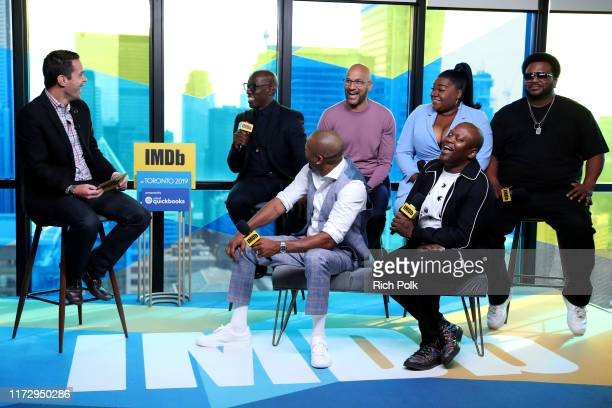 IMDb host Dave Karger actors Wesley Snipes KeeganMichael Key Mike Epps Da'vine Joy Randolph Tituss Burgess and Craig Robinson of 'Dolemite is my...