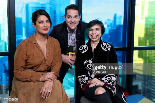 IMDb host Dave Karger actress Priyanka Chopra Jonas and director Shonali Bose of 'The Sky Is Pink' attends The IMDb Studio Presented By Intuit...