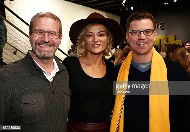 IMDb Senior Film Editor Keith Simanton director Lucy Walker and IMDb COO Rob Grady attend the private 50th Birthday Party for IMDb's Col Needham...