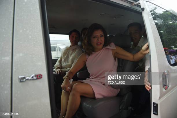 Imee Marcos the eldest daughter of late Philippine dictator Ferdinand Marcos arrives with her family to visit his grave on the elder Marcos' 100th...