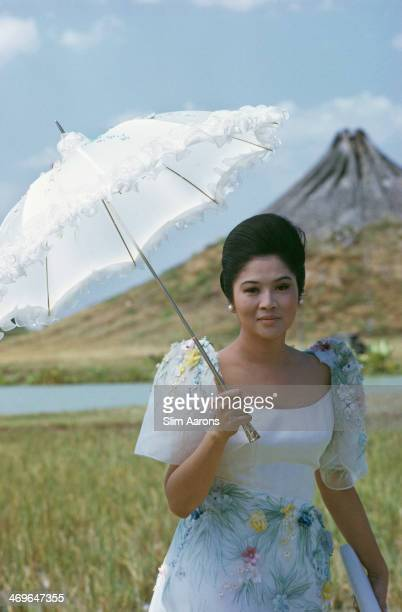 Imelda Marcos the wife of President Ferdinand Marcos of the Philippines in Manila February 1972