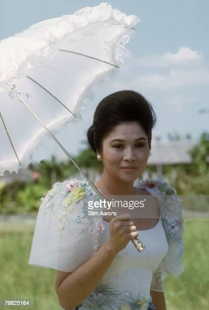 Imelda Marcos, the wife of President Ferdinand Marcos of the Philippines, in Manila, February 1972.