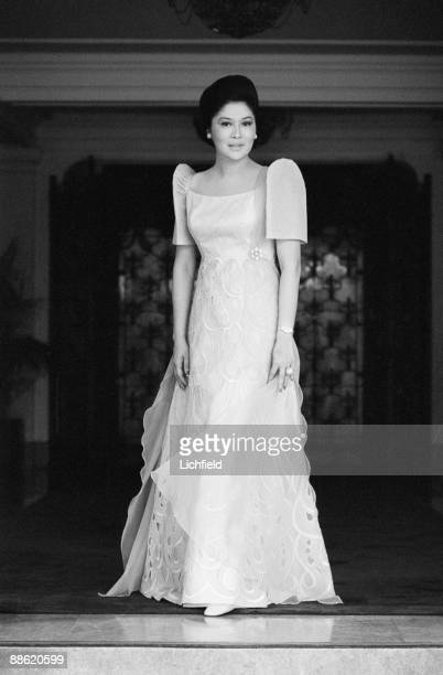 Imelda Marcos, wife of the President of the Philippines Ferdinand Marcos, photographed in the Philippines on 5th July 1974. .