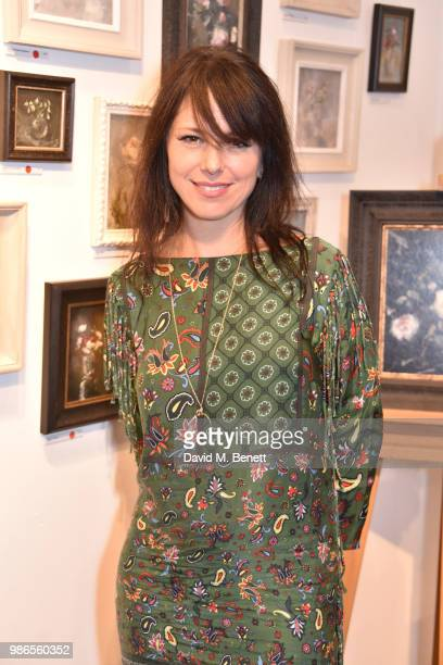 Imelda May attends a private view of 'Moments' by artist Jemma Powell hosted by Anthropologie King's Road on June 28 2018 in London England