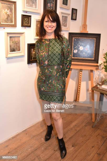 Imelda May attends Anthropologie hosts 'Moments' exhibition by Jemma Powell at Anthropologie on June 28 2018 in London England