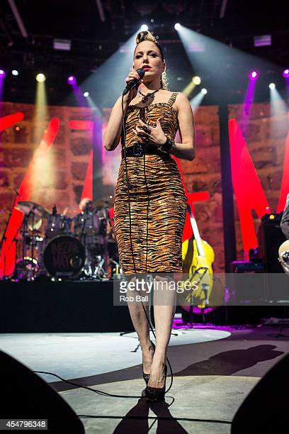 Imelda May performs as part of the iTunes Festival at The Roundhouse on September 6 2014 in London England