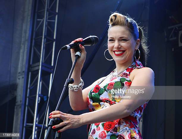 Imelda May performs at Iveagh Gardens on July 11 2013 in Dublin Ireland