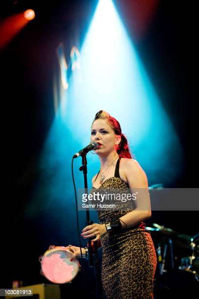 Imelda May performs in the Siam Tent on day 3 of Womad on July 25 2010 in Malmesbury England