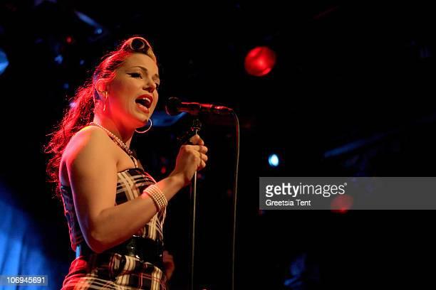 Imelda May performs live at Melkweg on November 17 2010 in Amsterdam Netherlands