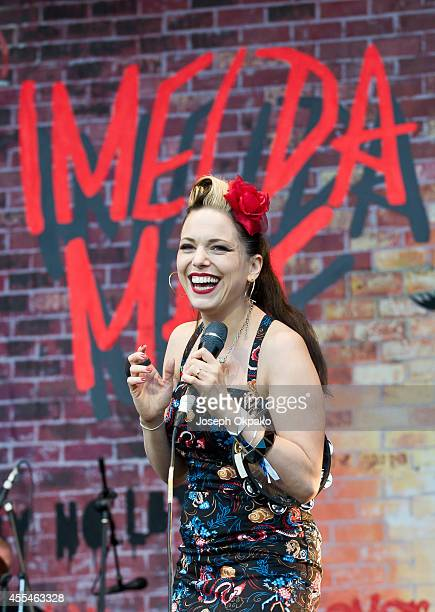Imelda May performs on Day 2 of ON Blackheath at Blackheath Common on September 14 2014 in London England