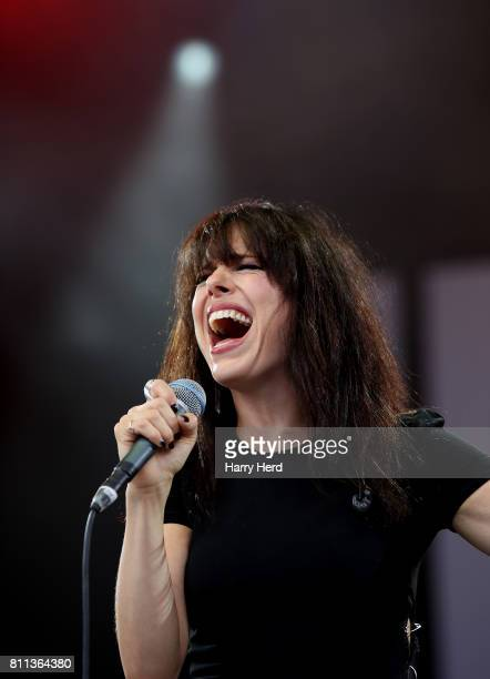 Imelda May performs on Day 3 of Cornbury Festival at Great Tew Park on July 9 2017 in Oxford England