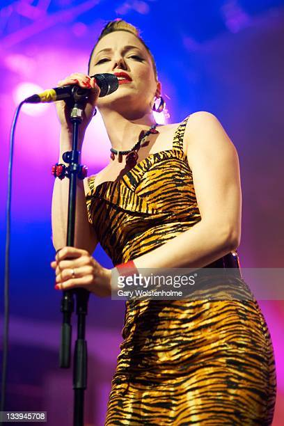 Imelda May performs on stage at O2 Academy on November 22 2011 in Sheffield United Kingdom