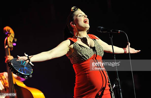 Imelda May performs on stage at Royal Albert Hall on May 4 2012 in London United Kingdom