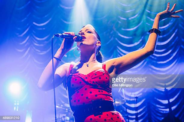 Imelda May performs on stage at Shepherds Bush Empire on November 24 2014 in London United Kingdom
